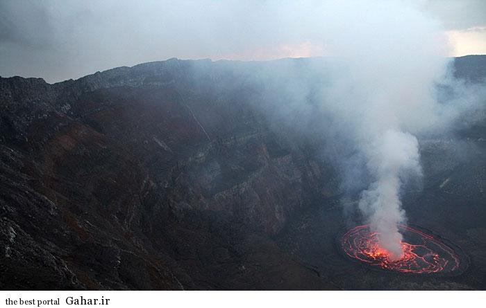 دریاچه ای از آتش در قلب کوه نیراگونگو در کنگو, جدید 1400 -گهر