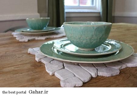 تزیین میز با سنگ های شیک و زیبا, جدید 1400 -گهر