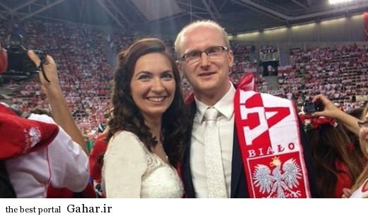 مراسم عروسی در بازی والیبال ایران و لهستان در سالن / عکس, جدید 1400 -گهر