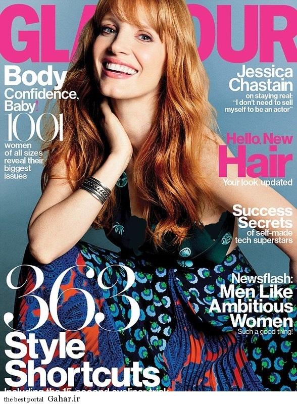 فتوشات های جسیکا چاستین برای مجله Glamour, جدید 1400 -گهر