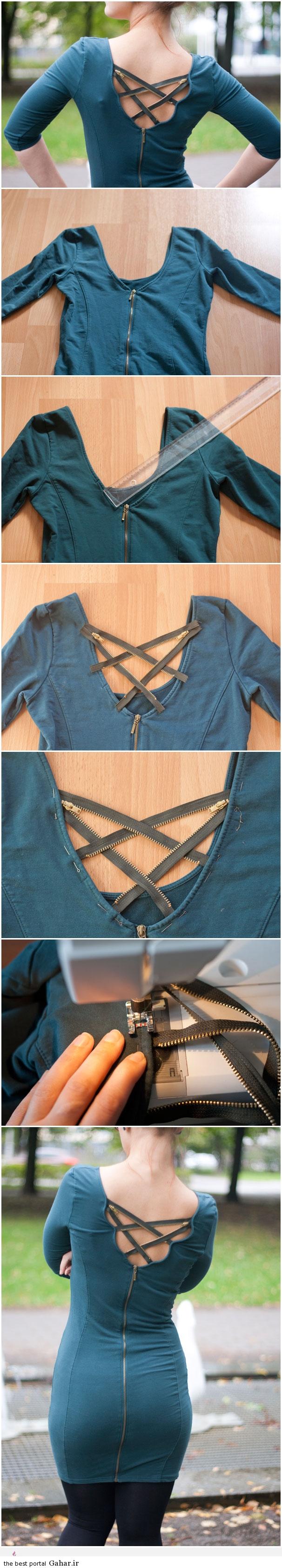 مدل جالب تزیین پیراهن با زیپ, جدید 1400 -گهر