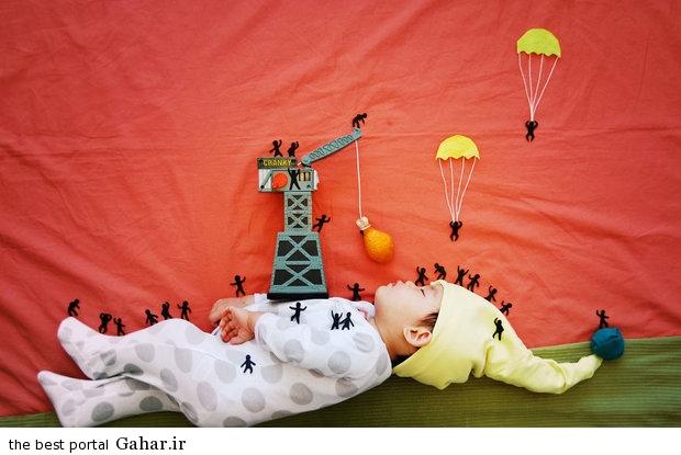 686926 مادری که با خلاقیت فوق العاده نوزادش را جهانی کرد / عکس