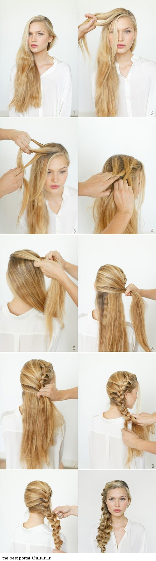 آموزش تصویری و گام به گام بافت موی بلند, جدید 1400 -گهر