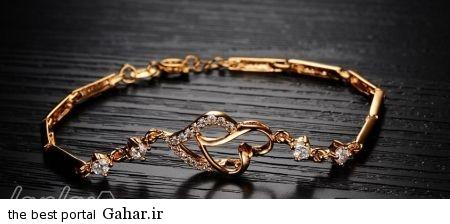 11e6ad4e00 عکس هایی از شیک ترین مدل های دستبند طلا 2015