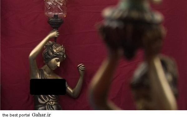 306022 544 مجسمه های زنان لخت در نمایشگاه لوستر ایران