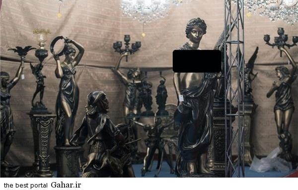 مجسمه های زنان لخت در نمایشگاه لوستر ایران, جدید 1400 -گهر