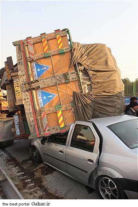 9310 11m3176 خراب شدن کامیون بر روی تندر 90 با بار سیب