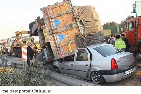 9310 11m3178 خراب شدن کامیون بر روی تندر 90 با بار سیب