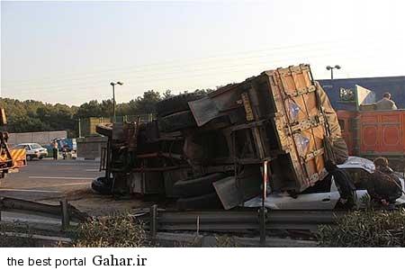 9310 11m3179 خراب شدن کامیون بر روی تندر 90 با بار سیب