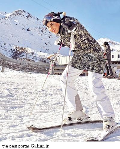 اسکی بازی لیلا بلوکات با تیپ جالب / عکس, جدید 1400 -گهر