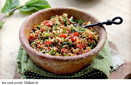 tabbouleh salad طرز تهیه سالاد تبوله