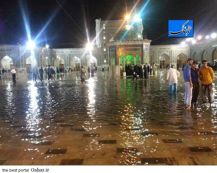 آبگرفتی بی سابقه در حرم امام رضا (ع) + عکس و فیلم, جدید 1400 -گهر