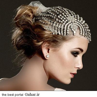 aroos hairstyle 2015 5 مدل جدید آرایش مو عروس با تل