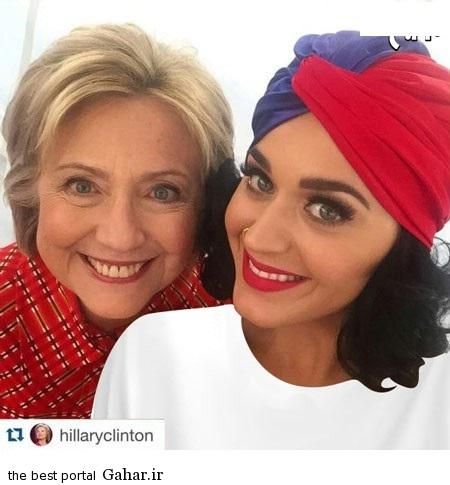 کیتی پری و هیلاری کلینتون / عکس, جدید 1400 -گهر