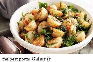 salad دستور تهیه سالاد سیب زمینی / غذای رژیمی