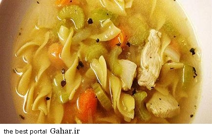 دستور تهیه سوپ رشته فرنگی و مرغ, جدید 1400 -گهر