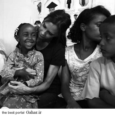 عکس های جدید ویکتوریا بکهام در در کنار کودکان اتیوپی, جدید 1400 -گهر