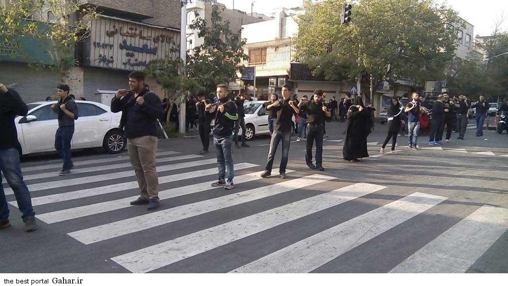 zan zanjir 3 عکس چند خانم در حال زنجیر زنی در هیئت عزاداری