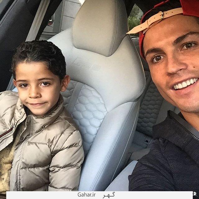 Cristiano Ronaldo Son Selfie عکس جدید کریستیانو رونالدو در کنار پسرش