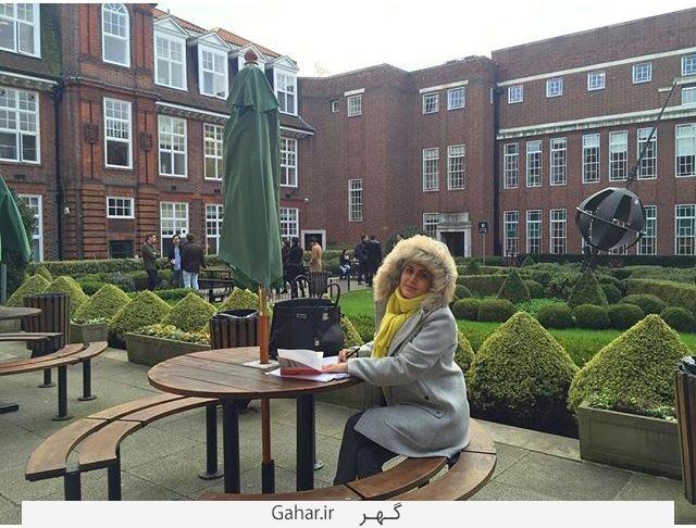 elnaz عکس جدید الناز شاکردوست در لندن بهمن 94