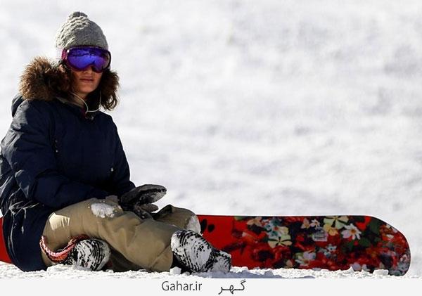 pisteski2 عکس ; پوشش عجیب زنان در پیست اسکی دیزین