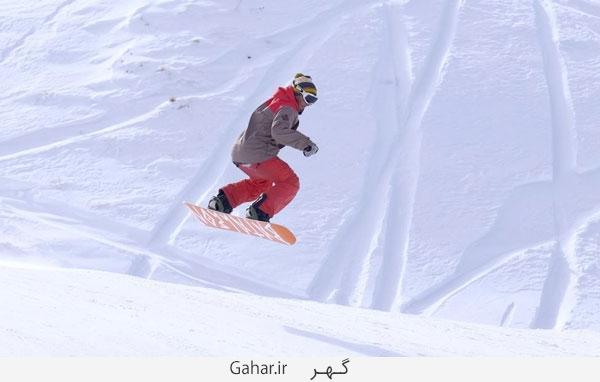 pisteski4 عکس ; پوشش عجیب زنان در پیست اسکی دیزین