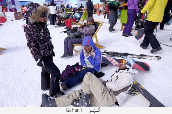pisteski6 عکس ; پوشش عجیب زنان در پیست اسکی دیزین