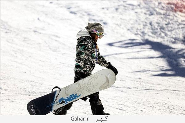 pisteski7 عکس ; پوشش عجیب زنان در پیست اسکی دیزین