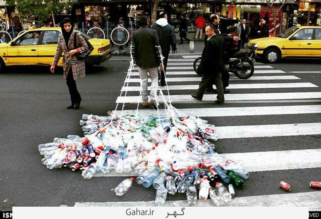 اعتراض به تولید زباله با روشی عجیب ! عکس, جدید 1400 -گهر
