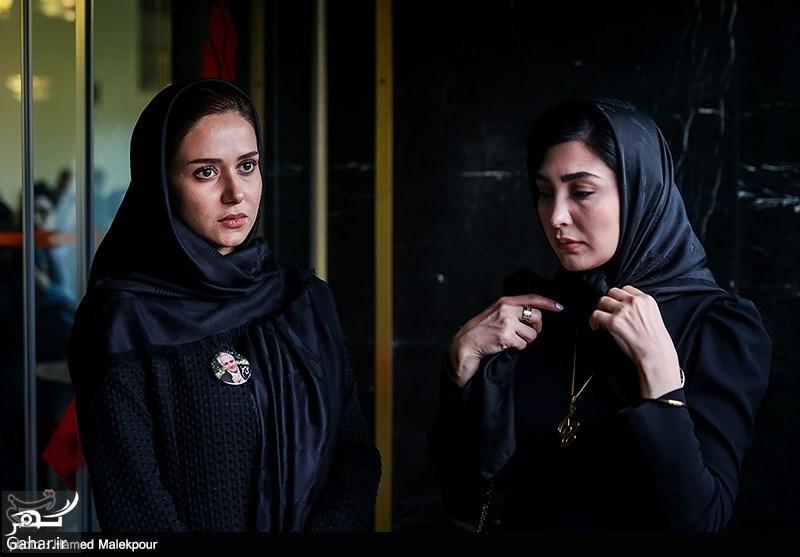 عکسهای بازیگران در مراسم چهلم علی معلم, جدید 1400 -گهر