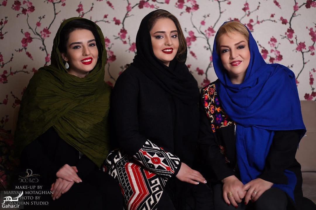 456522 Gahar ir عکسی جذاب از نرگس محمدی در کنار مادر و خواهرش