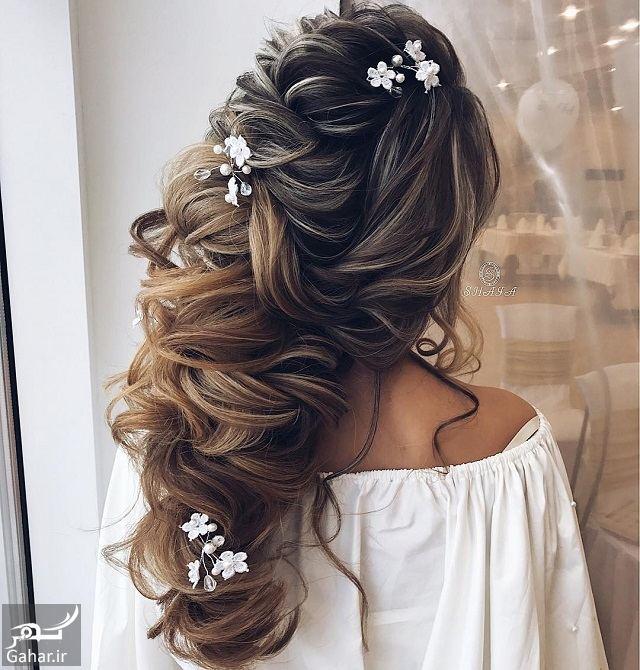 134130 Gahar ir جدیدترین مدل های زیبای شینیون موی بلند عروس
