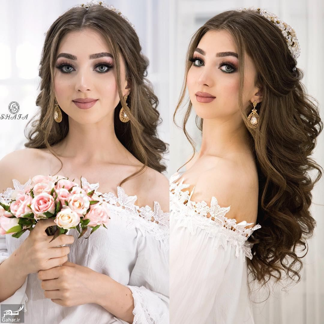 925308 Gahar ir جدیدترین مدل های زیبای شینیون موی بلند عروس