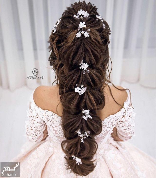 937433 Gahar ir جدیدترین مدل های زیبای شینیون موی بلند عروس