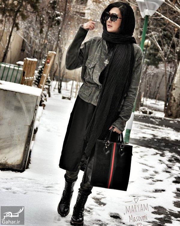 عکس جدید مریم معصومی با استایل زمستانی, جدید 1400 -گهر