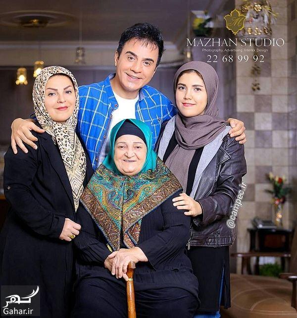 عکس دیدنی عمو پورنگ در کنار خانواده اش, جدید 1400 -گهر