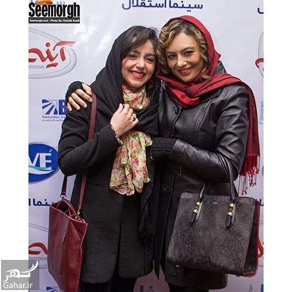 استایل متفاوت نازنین بیاتی و یکتا ناصر در اکران مردمی آینه بغل / تصاویر, جدید 1400 -گهر