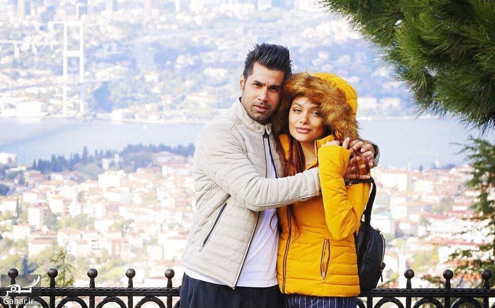 عکس محسن فروزان و همسر مدلش در آغوش هم, جدید 1400 -گهر
