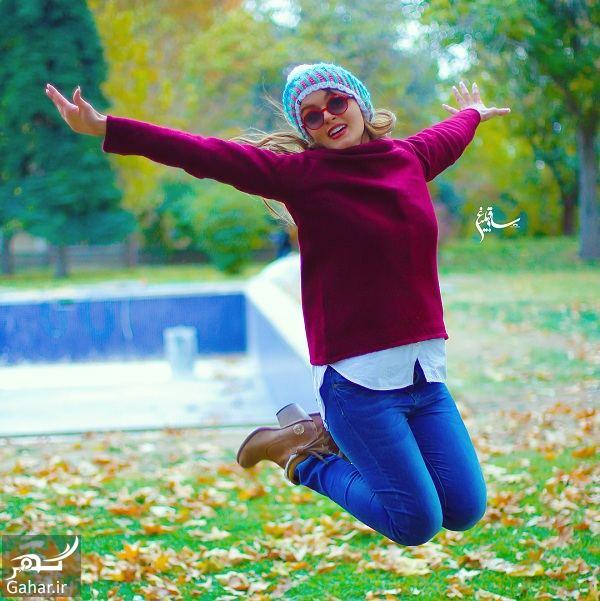 عکسهای جدید و زیبای نیلوفر پارسا با استایل پاییزی, جدید 1400 -گهر