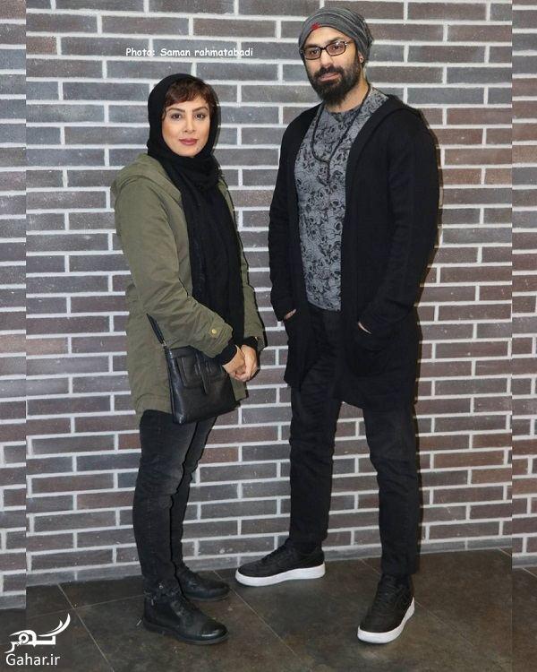 862254 Gahar ir حدیثه تهرانی و همسرش در اکران مردمی فیلم عشقولانس / 4 عکس