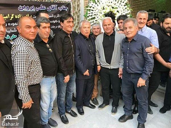 089829 Gahar ir عکسهای حضور ورزشکاران در مراسم ختم برادرزاده علی پروین