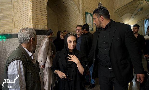 158696 Gahar ir عکسهای بازیگران و هنرمندان در مراسم ختم ناصر ملک مطیعی/ 24 عکس