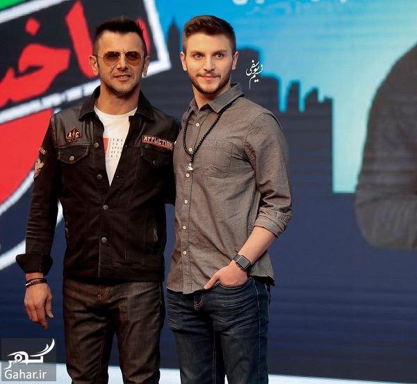 180737 Gahar ir عکسهای امین حیایی و پسرش در افتتاحیه سریال ساخت ایران 2