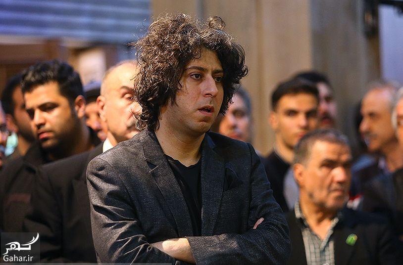 549692 Gahar ir عکسهای مراسم ختم ناصر چشم آذر با حضور هنرمندان