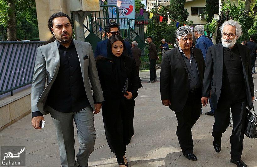 588293 Gahar ir عکسهای مراسم ختم ناصر چشم آذر با حضور هنرمندان