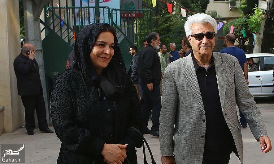 588439 Gahar ir عکسهای مراسم ختم ناصر چشم آذر با حضور هنرمندان