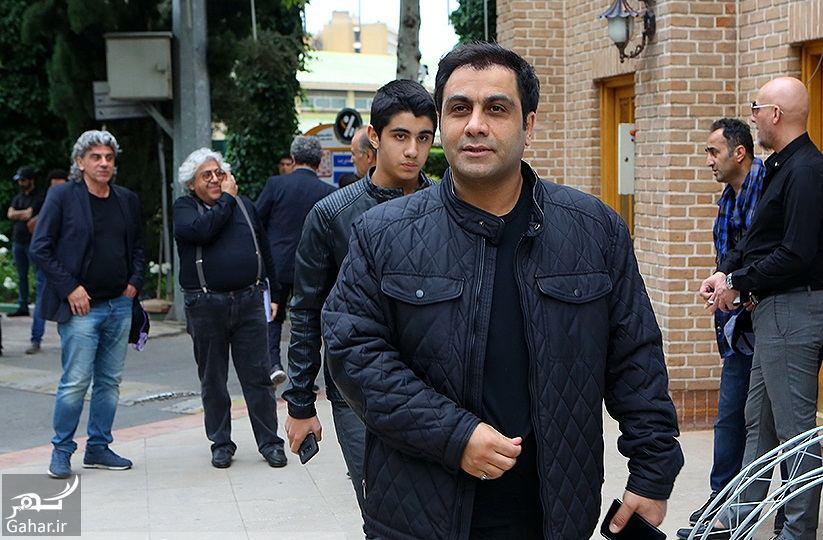 615608 Gahar ir عکسهای مراسم ختم ناصر چشم آذر با حضور هنرمندان