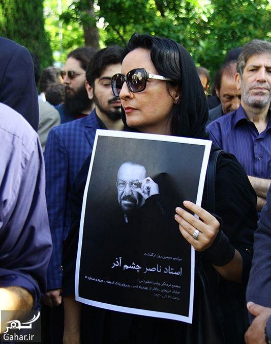 631201 Gahar ir عکسهای مراسم خاکسپاری ناصر چشم آذر با حضور هنرمندان