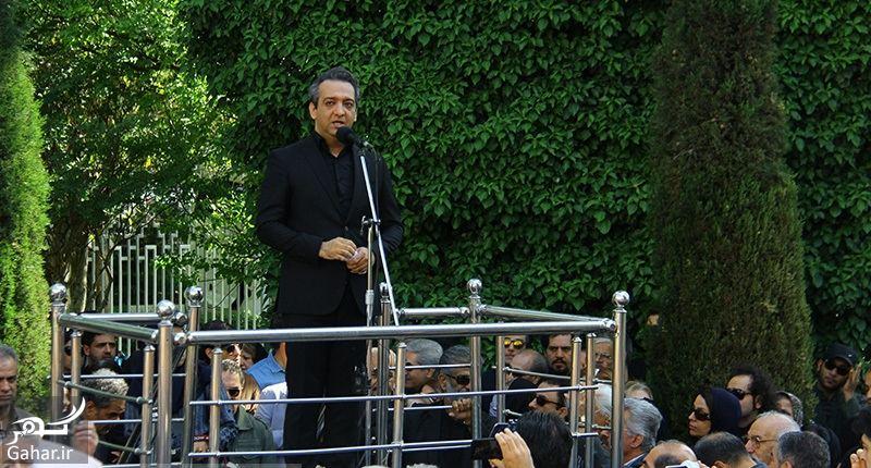 649843 Gahar ir عکسهای مراسم خاکسپاری ناصر چشم آذر با حضور هنرمندان