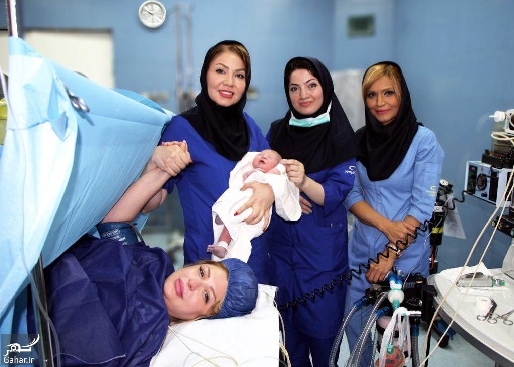 732293 Gahar ir فرزند نیوشا ضیغمی به دنیا آمد + عکس مادر و دختر